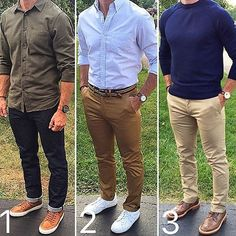Which would you rock on a Sunday? 1️⃣, 2️⃣ or 3️⃣❔ As far as dads that haven't lost any style points, @chrismehan certainly ranks up there.