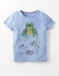 Bluebell Marl Frog Lifecycle T-shirt Boden