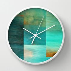 Wall Clock  Fantasy Oceans Collage by SYoungPhotography