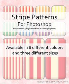 Stripe Patterns for PS by Pandora42.deviantart.com on @deviantART