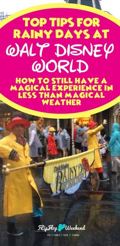 If you are facing less than magical Walt Disney World weather, this post will give you some practical easy tips to still have fun in the parks on those rainy days at WDW. #disney #wdw #disneyworld