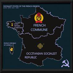 Date, Fantasy Map Generator, Socialist State, Imaginary Maps, Alternate History, Fictional World, France, I Decided, Soviet Union