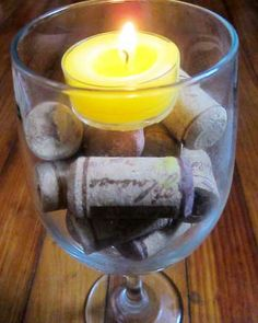 Simple DIY Wine Cork Centerpiece