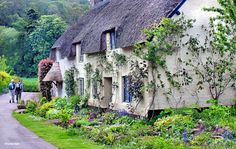 The edge of Exmoor -- A walk down Dunster, Somerset's lanes reveal traditional cottages.