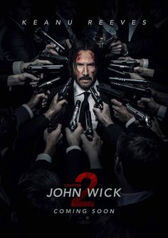 """John Wick Chapter 2 movie poster artwork for the 2017 Keanu Reeves movie """"John Wick All eyes are on wick. John Wick 2 Poster, John Wick 2 Movie, Watch John Wick, John Movie, Film John, Hd Movies Online, New Movies, Movies To Watch, Good Movies"""