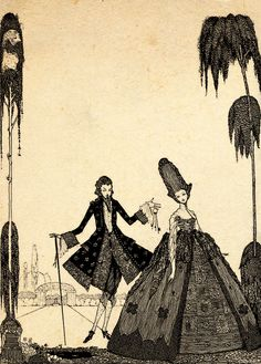 Illustration by Harry Clarke for the tale 'Blue Beard'. From the book 'Fairy Tales of Charles Perrault – Illustrated by Harry Clarke' available on: http://www.amazon.com/gp/product/1445508613/ref=as_li_tl?ie=UTF8&camp=1789&creative=9325&creativeASIN=1445508613&linkCode=as2&tag=reaboo09-20&linkId=5SXH5RB4FEJBN2HE