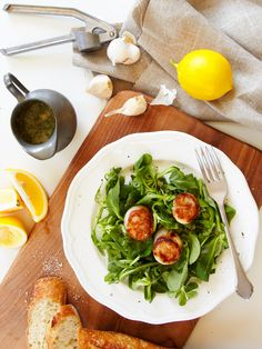 Meyer Lemon Parmesan Salad Dressing with Fresh Mint