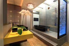 Decor Salteado - Blog de Decoração | Arquitetura | Construção | Paisagismo: Porcelanato madeira em banheiros e lavabos – veja modelos lindos + dicas!
