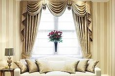 Elegant curtain styles for living room - Carla Dunn - gutpin Lounge Curtains, Fancy Curtains, Elegant Curtains, Home Curtains, Curtains Living, Curtains With Blinds, Luxury Curtains, Window Curtains, Fancy Living Rooms