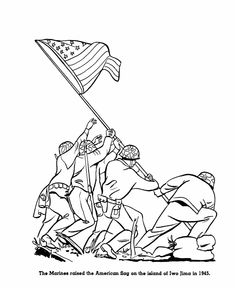 Veterans Day Coloring Page Sheets For Kids Iwo Jima Flag On Holiday With Army Air Force Navy Marines Pages