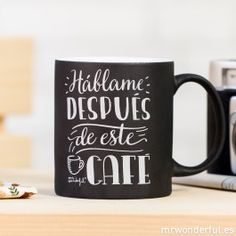 """""""Talk to me after this coffee"""" Mug Coffee Humor, Coffee Quotes, Funny Coffee Cups, Coffee Mugs, Boss Lady Mug, Drink Containers, Coffee Business, Breakfast Cups, Coffee Accessories"""