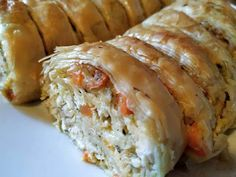 Cookbook Recipes, Pie Recipes, Chicken Recipes, Cooking Recipes, Greek Recipes, Sushi, Food And Drink, Appetizers, Sweets
