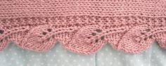 scarf with leaf edging...knit in one piece from start to finish! And the pattern is free...I like free!