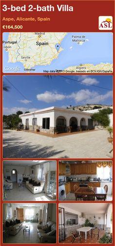3-bed 2-bath Villa in Aspe, Alicante, Spain ►€164,500 #PropertyForSaleInSpain