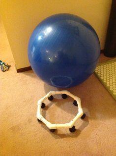 DIY Exercise Ball Chair Repurposed etc