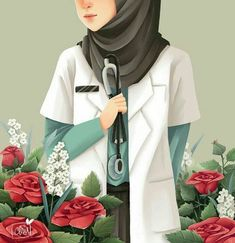 23 best art animasi hijab - my ely Hijabi Girl, Girl Hijab, Hijab Anime, Chiffon Hijab, Tmblr Girl, Arte Judaica, Hijab Drawing, Islamic Cartoon, Girly M