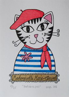 Parisienne Puss ... by Lucy Couchman England, United Kingdom