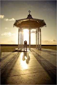 Southsea Bandstand at Sunset- another interesting portrait location in Portsmouth, Hampshire.