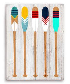 Colorful Oars Wall Art
