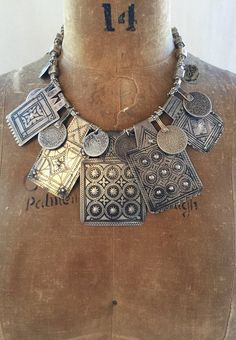 Antique Moroccan Berber Amulets+Silver Beads - Victoria Z Rivers+Jewelry Antique Berber Moroccan Silver+Amulets+Coins+Tribal Diamonds™+Old Silver from Southeast Asia+Unique Jewelry+Statement Necklaces Diamond Necklace Set, Diamond Cross Necklaces, Gold Choker Necklace, Statement Necklaces, Garnet Necklace, Diamond Jewelry, African Jewelry, Tribal Jewelry, Unique Jewelry