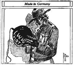Big Piney WY Examiner 10-25-1917  - A newspaper editorial cartoon from 1917, critical of the IWW's antiwar stance during World War I