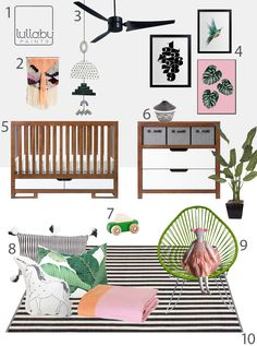 My Modern Nursery 107 Tropical White Saltire- Final Design!