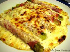 Puerros gratinados con mostaza a la antigua y queso Idiazábal Yummy Vegetable Recipes, Mexican Food Recipes, Ethnic Recipes, Appetisers, Food Hacks, Love Food, Salad Recipes, Food To Make, Food And Drink