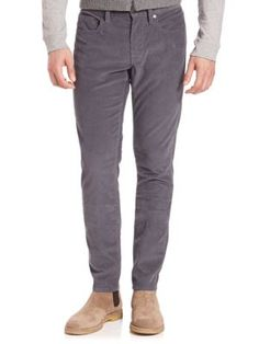 VINCE Slim Tapered-Fit Corduroy Pants. #vince #cloth #pants