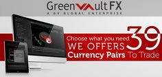 Greenvault #FX offers 39 #currency pairs to #trade with the innovative #ECN #cTrader platform. Start trading your currencies in cTrader platform with Greenvault FX.  Register to our live account and experience the speedy execution.  To know more information visit our website.