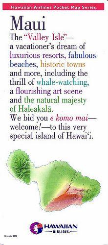 Hawaiian Airlines Pocket Map Series - Maui Hawaii Travel Guide, Maui Travel, Trip To Maui, Maui Vacation, Hawaii Pictures, Hawaii Pics, Hawaiian Airlines, Aloha Hawaii, Island Beach