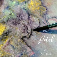 """""""It always seems impossible until it's done"""" Nelson Mandela.  Carving out petals in the studio. coloursbysheri.com Delicate, Collage, Carving, Texture, Abstract, Artist, Nelson Mandela, Painting, Watercolors"""