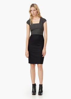 Contrast skirt dress