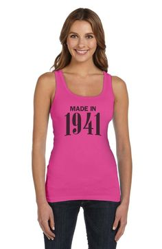 Made In 1941 75Th Birthday Gift Idea Retro Cool Women Tank Top Novelty Present