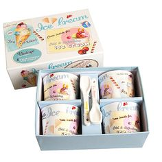Ice-Cream Cup Set in cutlery and tableware at the home of creative kitchenware, Lakeland