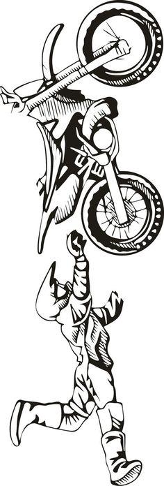 LARGE Motocross Vinyl Decal Wall Sticker Wall Tattoo by - Tattoo, Tattoo ideas, Tattoo shops, Tattoo actor, Tattoo art Motocross Tattoo, Dirt Bike Tattoo, Bike Tattoos, Motorcycle Posters, Motorcycle Art, Bike Art, Motorcycle Design, Moto Wallpapers, Aluminum Foil Art