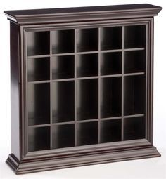 20 Shot Glass Display Case For Tabletop Or Wall Crown Molding Open Face Mahogany Glass Display Case Shot Glass Holder Glass Shadow Box