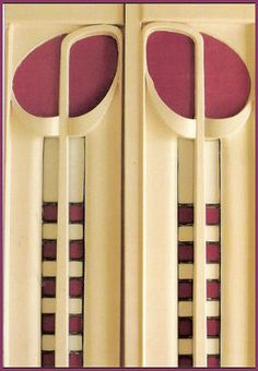 Charles Rennie Mackintosh, Glasgow Scotland. This is a detail of his interior architecture that features a favorite motif, a stylized rose.