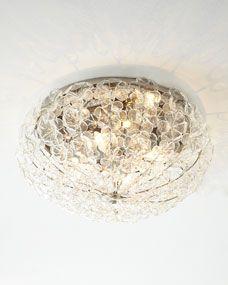 Glass Flower 24 Flush-Mount Ceiling Fixture