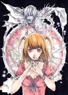 Amane Misa and Rem Manga Anime, Anime Ai, Death Note Fanart, L Death Note, Amane Misa, Japon Illustration, Matou, Arte Sketchbook, Manga Covers