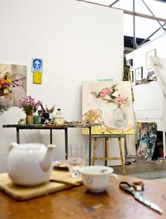Laura Jones · The Conductors Project - The Design Files Dream Studio, My Art Studio, Painting Studio, Atelier D Art, The Design Files, Inspired Homes, Art Studios, Artist At Work, Decoration