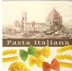 Serviette 'pasta italiana'