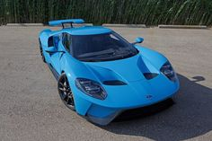 Ford Gt  Riviera Blue Owned By The Creator Of The Ford Gt