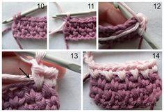 Crochet Linen Stitch Changing Colour