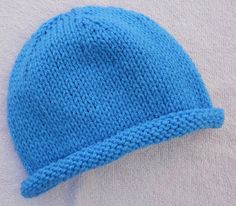 Suzies Stuff: simple knitted hat for any size.