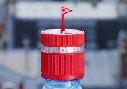 Uma tampa de garrafa que te lembra de beber água