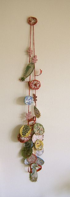 Fabric necklace by blue-field, via Flickr