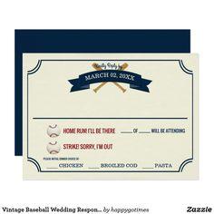 Vintage Baseball Wed