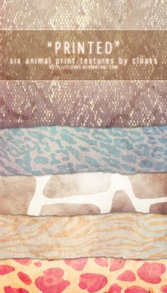 Printed Texture Pack by cloaks on deviantART