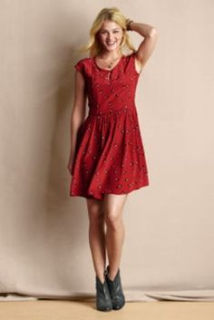 Women's Silk Keyhole Dress from Lands' End Canvas    ANOTHER CUTE DRESS I WANT!!