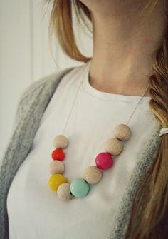 Wooden beads by mobelpobel.blogspot.dk #grenediy #sostrenegrene #søstrenegrene – sostrenegrene.com